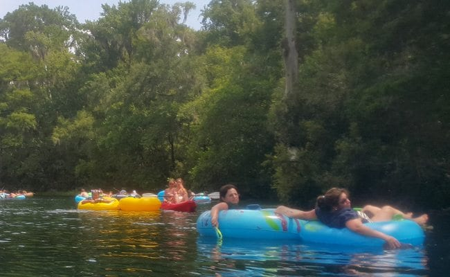 Youth Group Tubing At Rainbow River