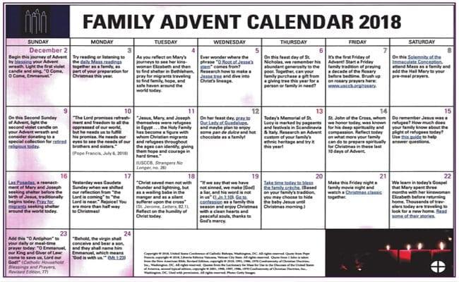 Family Advent Calendar 2018