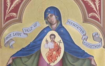Friday: Sacred Heart to receive Our Lady Help of Persecuted Christians Icon