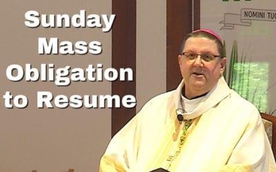 Sunday Mass Obligation to Resume